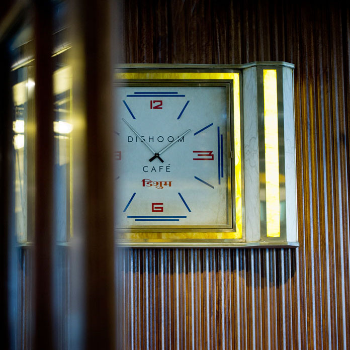 Dishoom Cafe clock
