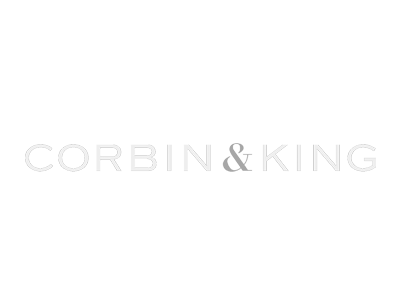 Corbin & King white logo