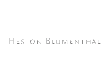 Heston Blumenthal white logo