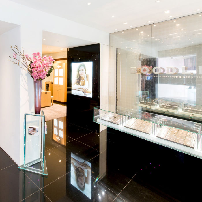 Boodles jewellery display cases