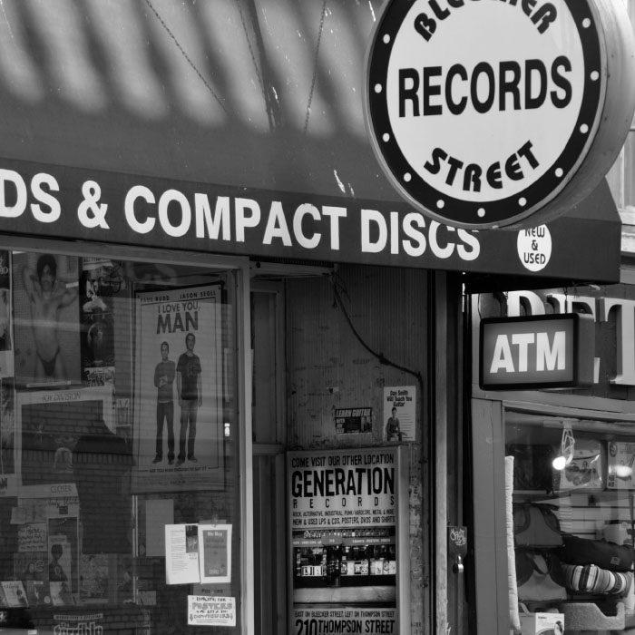 Cropped shot of Bleecker Street record shop