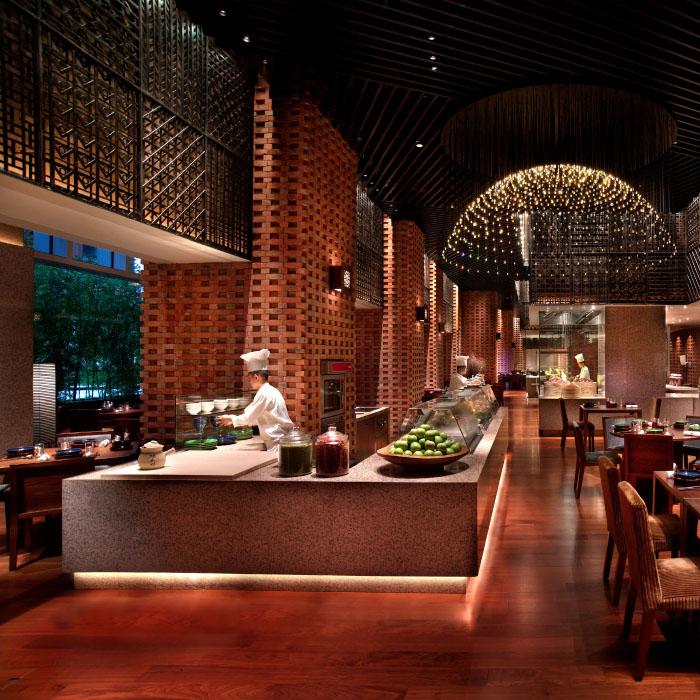 Restaurant and kitchen in Grand Hyatt Shenzhen