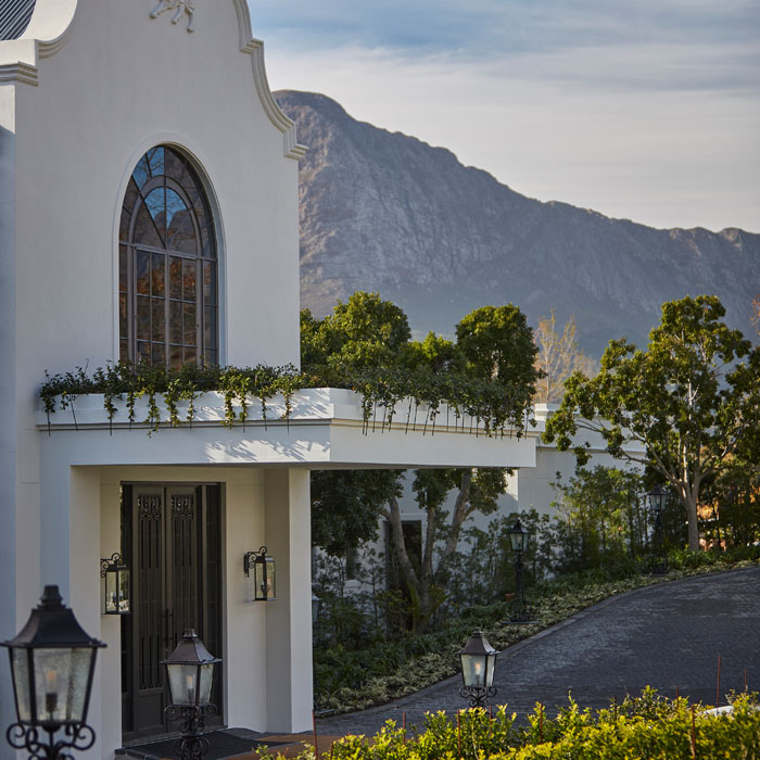 Leeu frontage in South Africa's Franschoek Valley