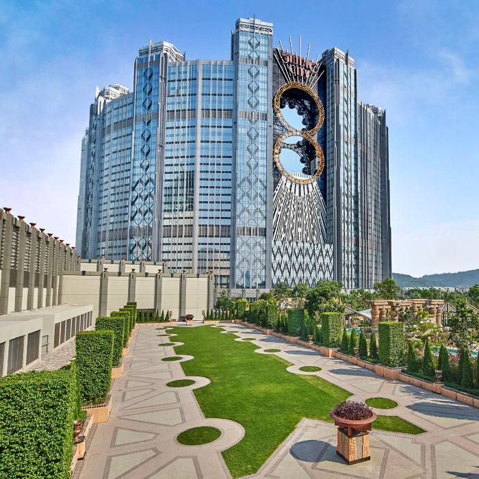 Exterior shot of Studio City Macau