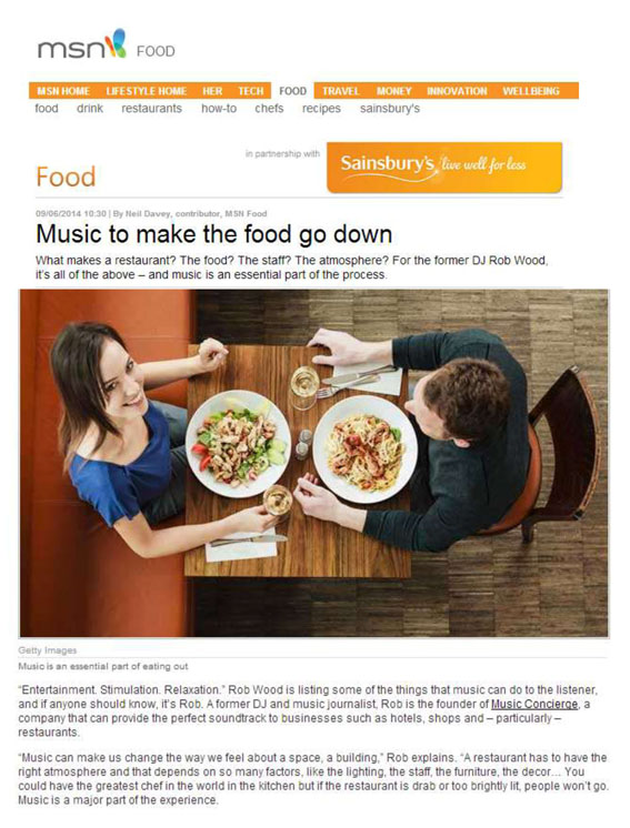 Article: MSN Food