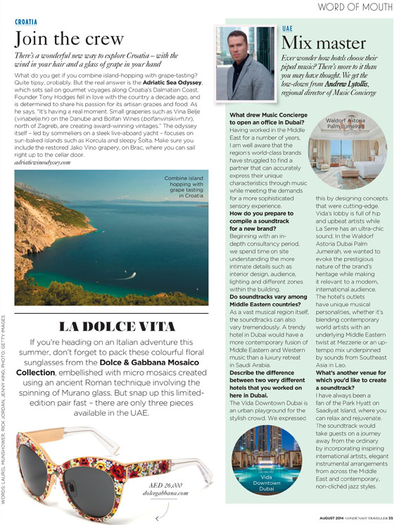 Article CONDÉ NAST TRAVELLER