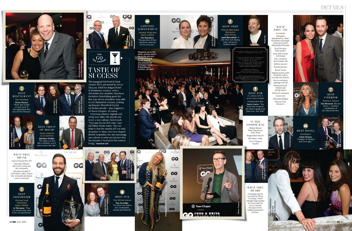 Article GQ FOOD & DRINK AWARDS