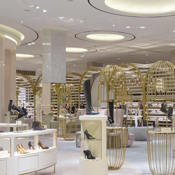 Level Shoes District store - a client of Music Concierge